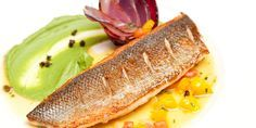 Pierre Koffmann pairs perfectly cooked sea bass with a rich citrus sauce and broccoli purée in this beautiful recipe