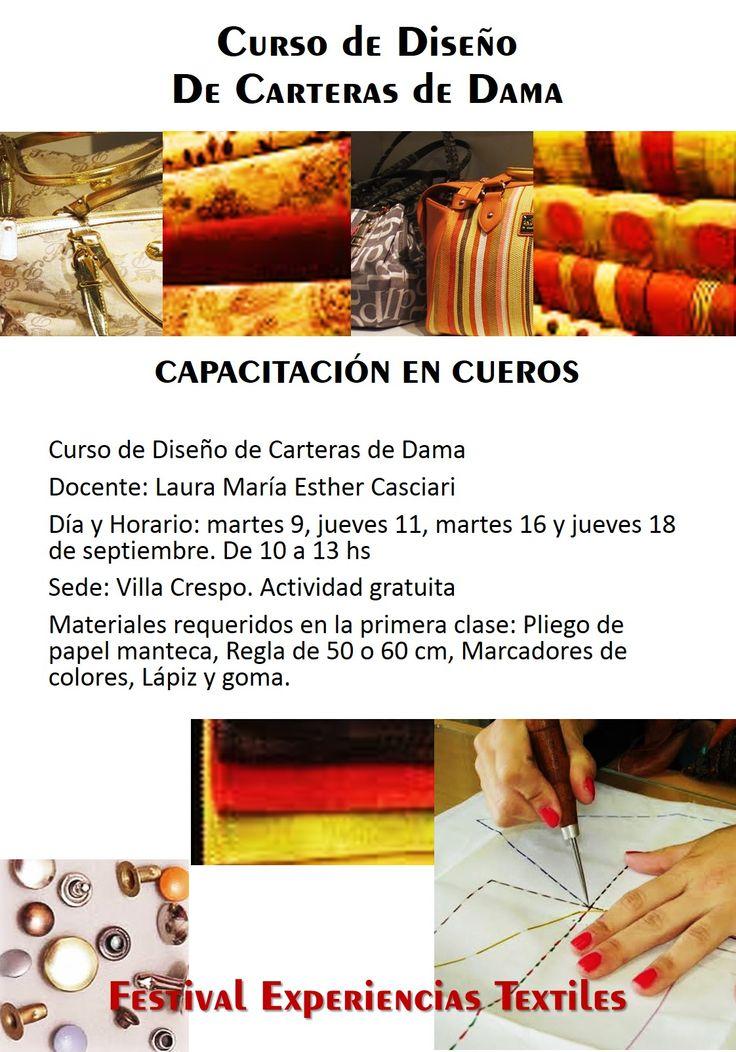 4 clases para aprender TODO sobre como realizar las carteras que siempre quisiste en CUERO!! Imperdible!!