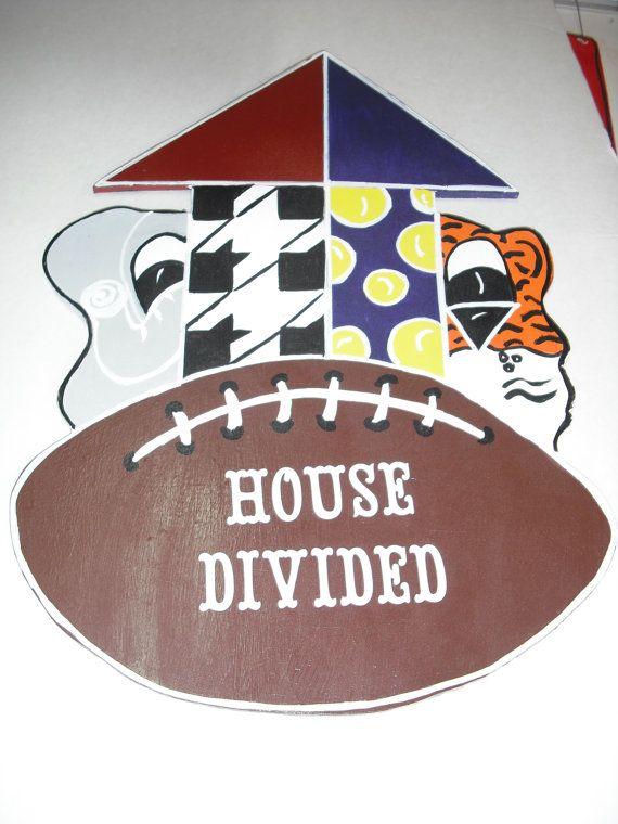 Alabama Door Hanger LSU/Alabama Door Hanger House Divided door hanger  Alabama/LSU
