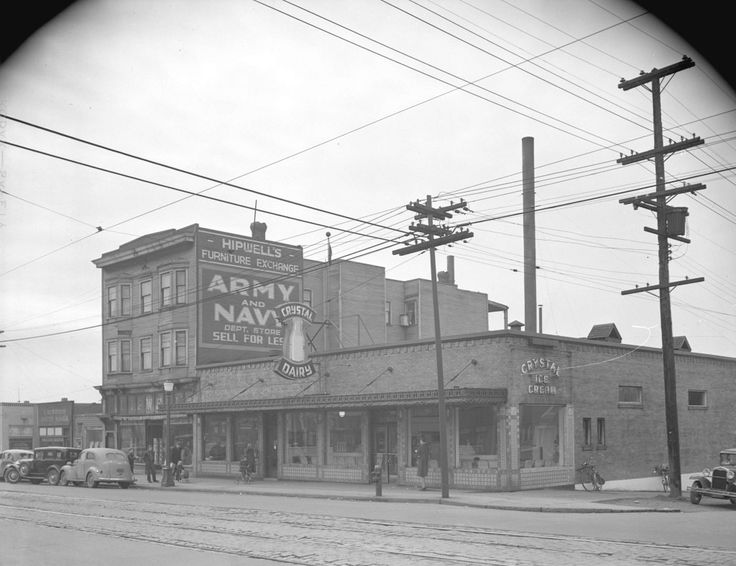 1946 - Crystal Dairy Building: Between 1st-2nd Avenue on Commercial Drive