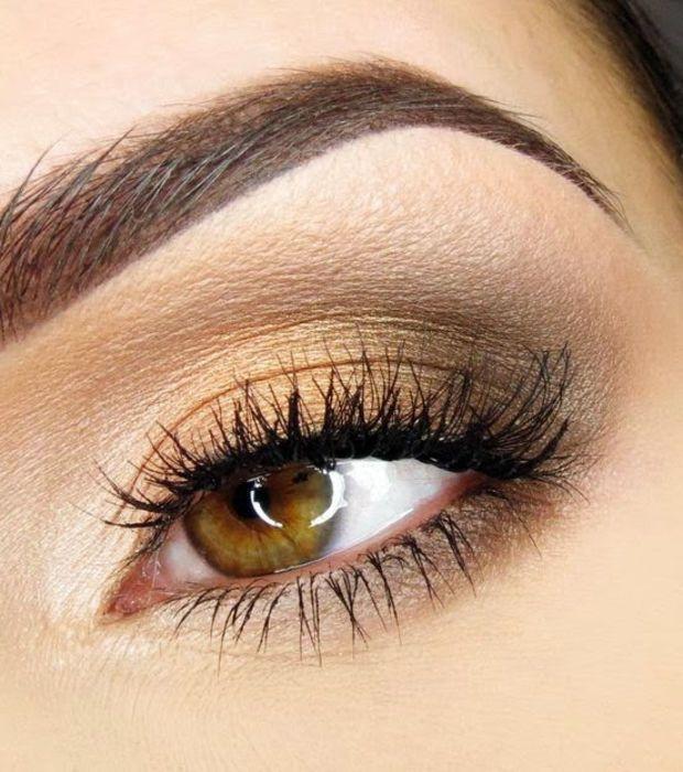 Célèbre Les 25 meilleures idées de la catégorie Maquillage yeux marron  VW05