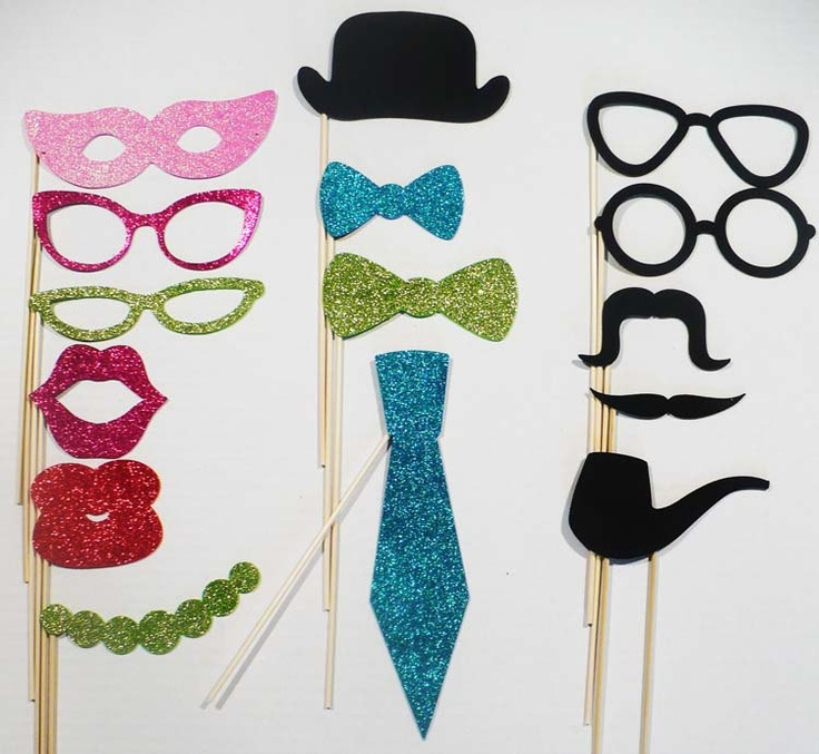 Photo booth props 15 piece set Foam Glitter photo by AshleyDoodle. $25.00, via Etsy.