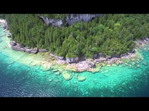Flowerpot island and Bruce Peninsula National Park 4k - YouTube