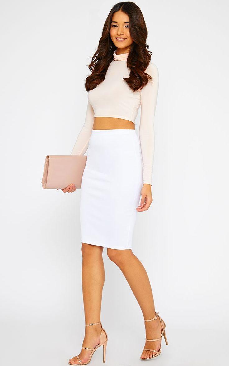 25  best ideas about White midi skirt on Pinterest | White skirt ...