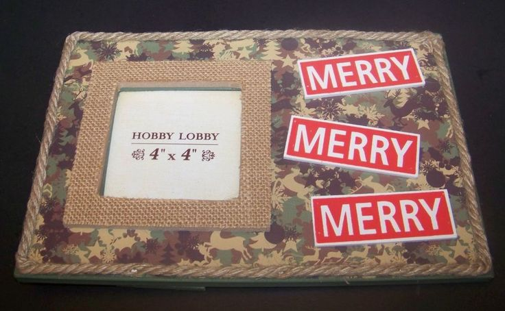 Duck Dynasty Christmas Picture Frame Merry Camo Burlap  #HobbyLobby #Camo