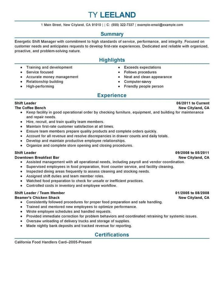 Resume Examples by Industry and Job Title Good resume