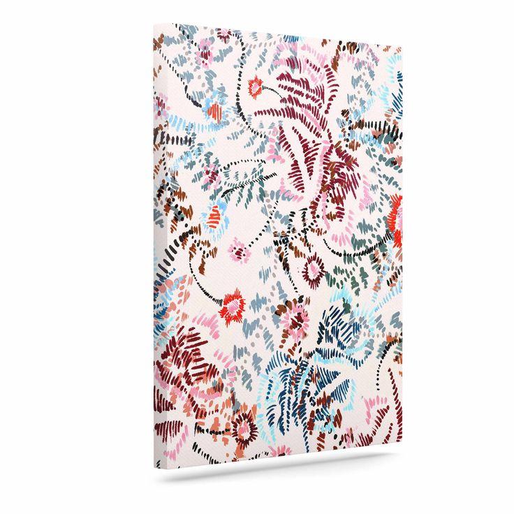 "Fernanda Sternieri ""African Romance "" Red Beige Canvas Art"