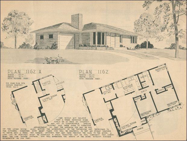 106 best images about house plans on pinterest house for 1950s house plans