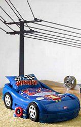 Power Pole Wall Stickers  - kids-car-beds-car-theme-bedroom-decorating-ideas. Novelty car beds, Car furniture for car bedroom theme