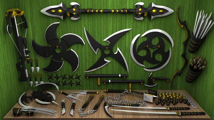 ArtStation - Ninja Weapons, Felippe Darezzo