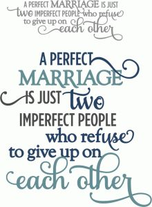 Silhouette Online Store - View Design #60847: perfect marriage phrase
