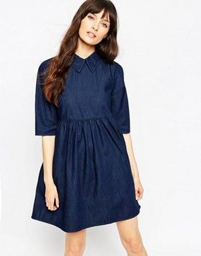 Джинсовое платье бэби‑долл ASOS