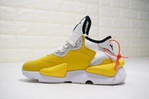 022a6ae705c Mens Womens Adidas Y-3 Kaiwa Sneakers Lemon yellow white BC0909 Running  Shoes