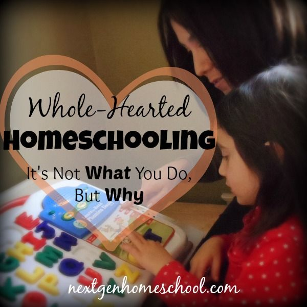 NextGen Homeschool / Whole-Hearted Homeschooling: It's Not What You Do, But Why