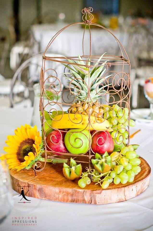 Fruit arrangement for breakfast function