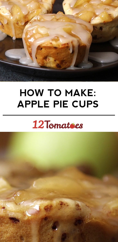Cinnamon Roll Apple Pie Cups