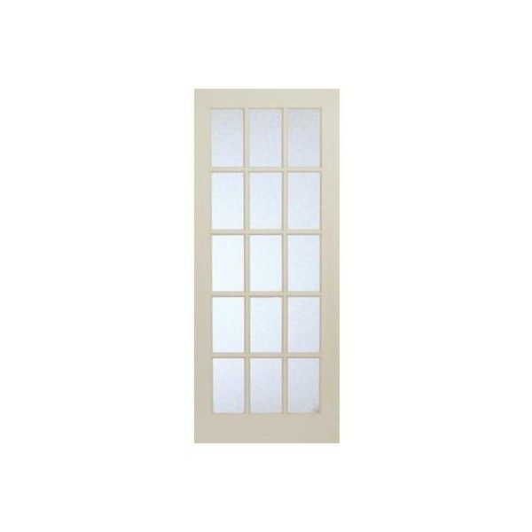 Milette Interior 15 Lite French Door Primed With Martele Privacy Glass... ($139) ❤ liked on Polyvore featuring home, home decor, windows, doors, interior design, french home decor, glass home decor and french home accessories