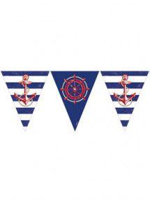 Ghirlanda con bandierine tema marino su VegaooParty, negozio di articoli per feste. Scopri il maggior catalogo di addobbi e decorazioni per feste del web,  sempre al miglior prezzo!