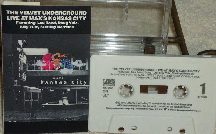 The Velvet Underground - Live At Max's Kansas City - Atlantic - Audio Cassette