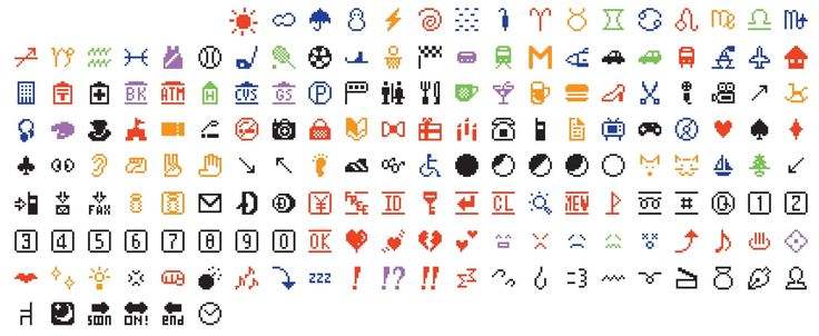 Shigetaka Kurita, NTT DOCOMO. Emoji (original set of 176). 1998–99. Software and digital image files. Gift of NTT DOCOMO Inc., Japan. © 2016 NTT DOCOMO
