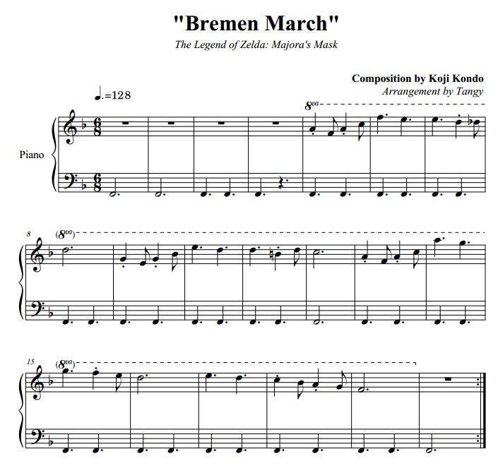 Bremen March Sheet