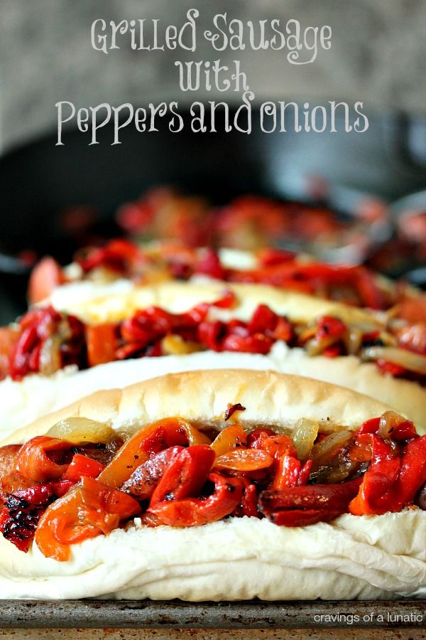 Grilled Sausage with Peppers and Onions | Easy to make and an absolute crowd pleaser!