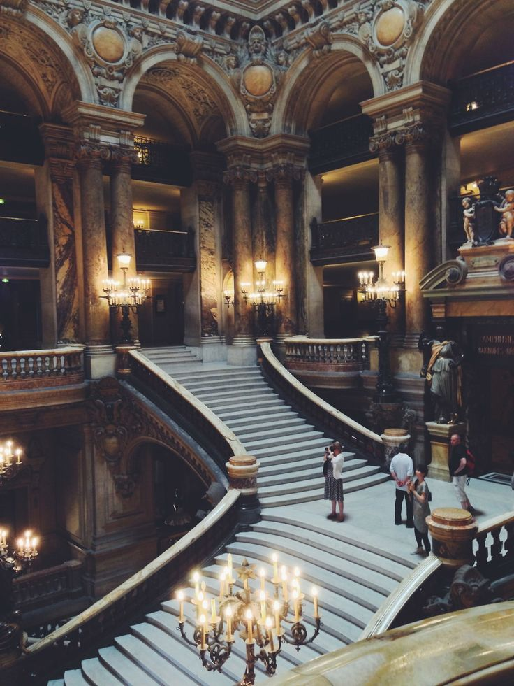 Palais Garnier, Paris - Inspiration for main staircase inside the white palace at Darpan in To Seduce an Assassin