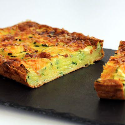 Comme une envie de ...: Gâteau Invisible Courgette & Safran
