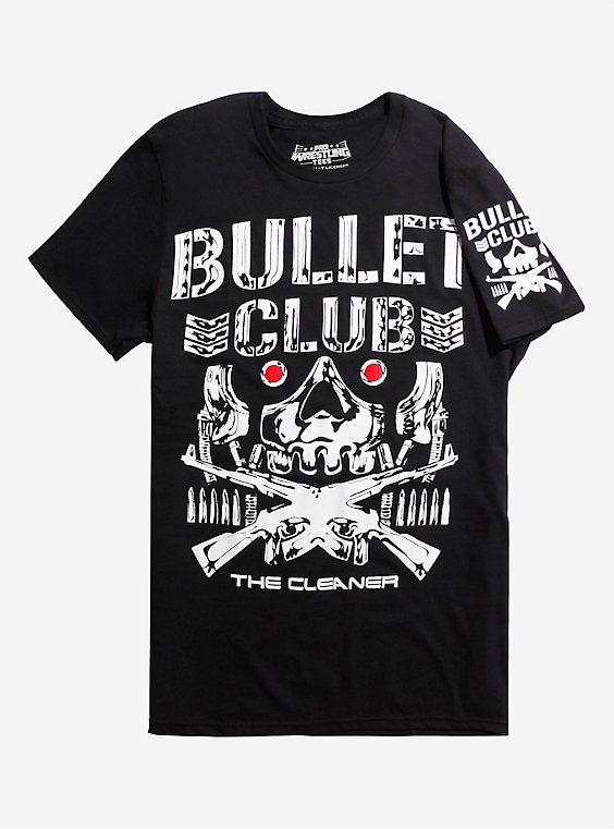 New Japan Pro-Wrestling Bullet Club Kenny Omega Bone Droid T-Shirt, BLACK