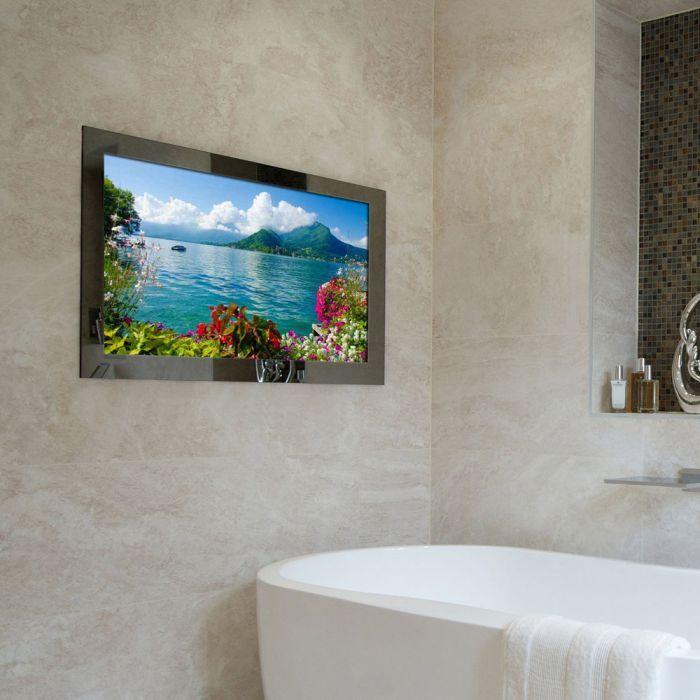 Mirror Bathroom Tv Waterproof Mirror Television Next Day Delivery Bathroom Tv In 2020 Tv In Bathroom Bathroom Mirror Diy Bathroom Remodel