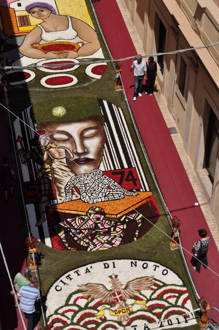Noto, Sicily's annual flower festival, Italy