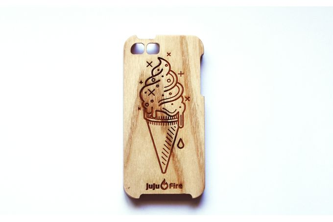 Soft Serve Ash wood iPhone cover. by JuJuFire