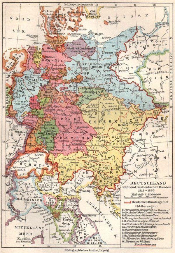 Deutschlandlied Deutscher Bund Ungarn Karte Geschichte Karten