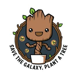 Galaxy Forest Conservation Program, Guardians of the Galaxy / Groot / Baby Groot | TeeFury