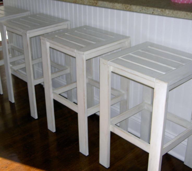 Ana White | Build a Stools for the Bar Table for the Simple Outdoor Collection | Free and Easy DIY Project and Furniture Plans