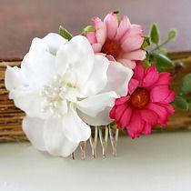 Kwiatowy grzebień do włosów, do włosów - spinki i klamry