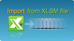 Import data from XLSM file in C#, VB.NET, Java, PHP, C++ and other programming languages. The entire sheet data or only data from a range of cells can be imported. #Excel #CSharp #VBNET #Java #PHP #CPlusPlus