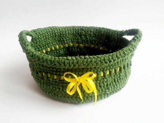 Handmade Crochet Basket   by MKedraHandmade on Etsy, $10.00