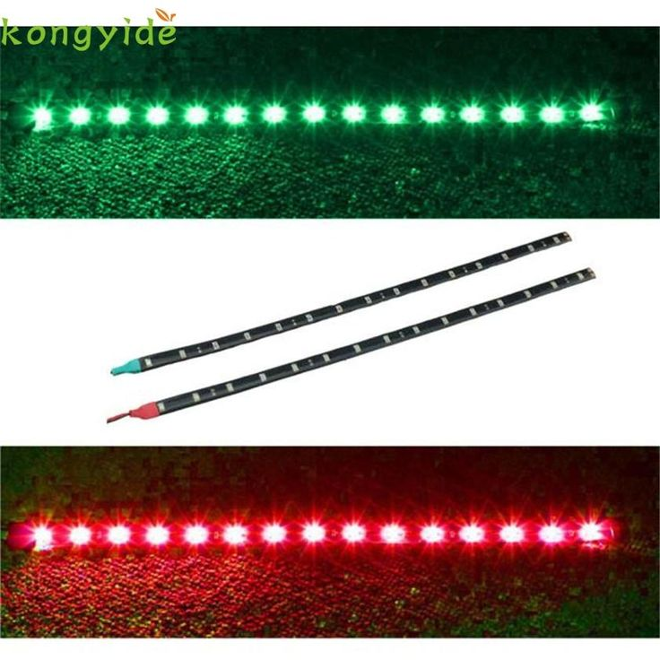 2X BOAT NAVIGATION LED LIGHTING RED & GREEN WATERPROOF MARINE LED STRIPS CAR ACCESSORIES