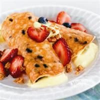 It only takes 5 ingredients to start your day with Blueberry Pancake Roll-Ups with Yogurt, Granola and Berries from Martha White®.