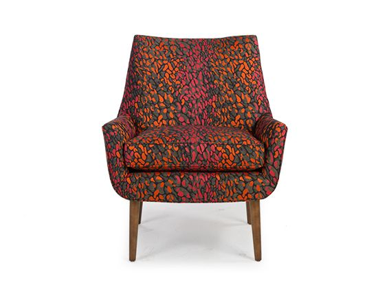 Calix Chair There are so many great fabrics to choose from. We love the Senegal Saffron fabric shown here!