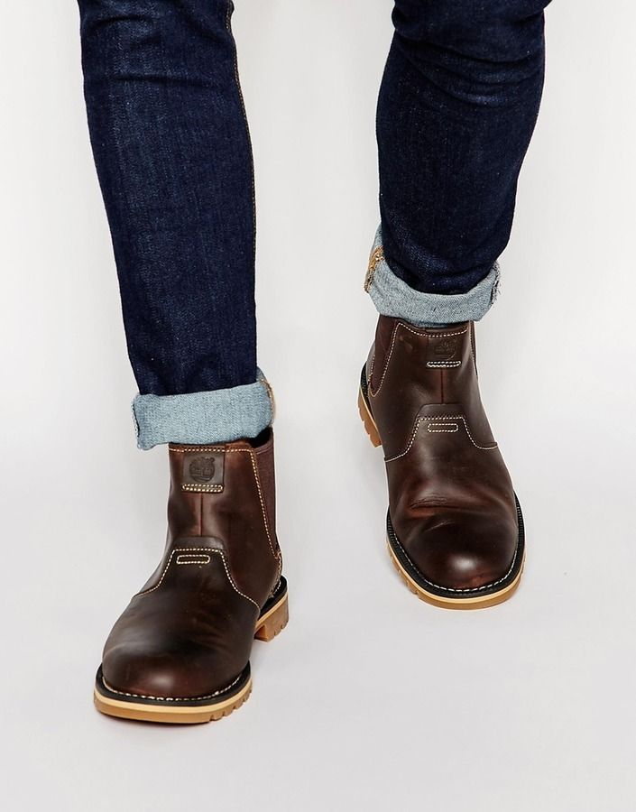$107, Timberland Grantly Chelsea Boots. Sold by Asos. Click for more info: https://lookastic.com/men/shop_items/337961/redirect