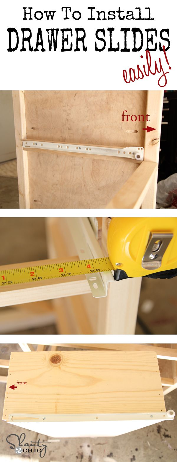 Replace kitchen cabinet drawer slides - How To Easily Install Drawer Slides Love This