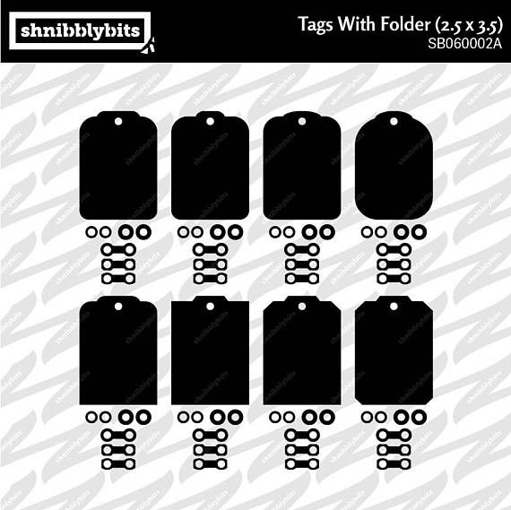 24 Tags with Folders 2.5x3.5