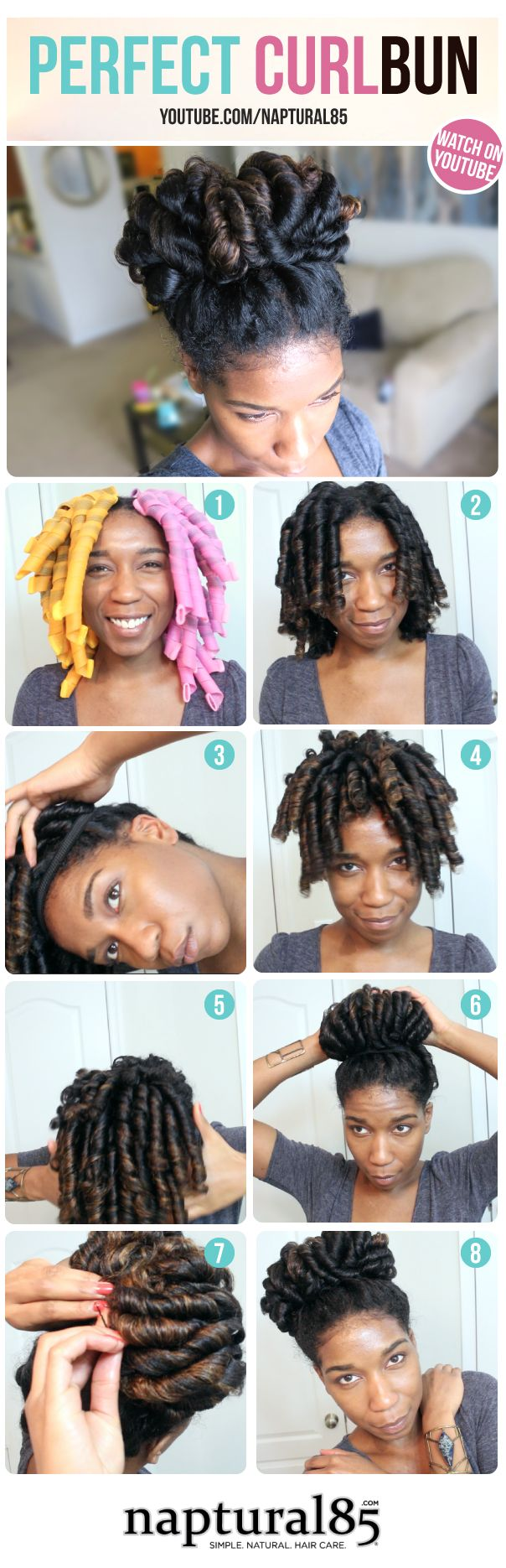 5 Stunning Pictorials of Perm Rod Styles | Black Girl with Long Hair | napatural85 | perfect curl bun