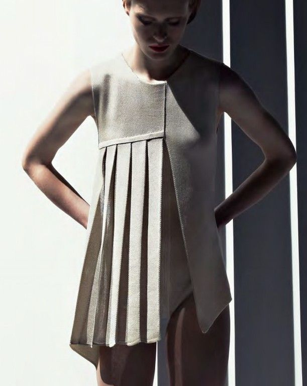 Stoll Trend Collection S/S 2013, Architectural Knits. via Knitting Industry #pleats asymmetrical design