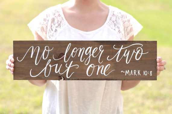 No Longer Two But One Sign Bible Verse Sign by ThePaperWalrus