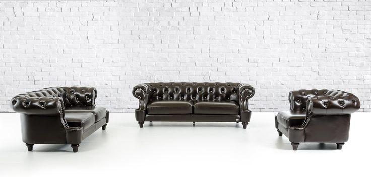 Divani Casa Transitional Chocolate Italian Leather Sofa Set - VGKND6022