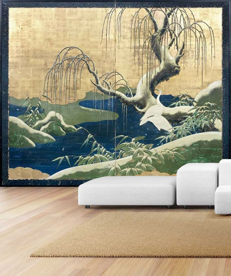 8 best papier peint japonais issu de la peinture japonaise ukiyo e images on pinterest. Black Bedroom Furniture Sets. Home Design Ideas