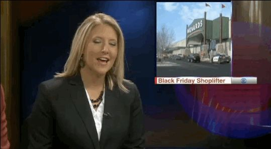 Anchor Amber Schatz managed to keep her cool while Ferrell was predictably silly on air. | Ron Burgundy Joined An Actual Newscast In North Dakota Last Night